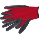 Перчатки полиэфирные с чёрным нитрильным покрытием маслобензостойкие, L, 15 класс вязки// Stels