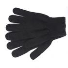 Перчатки трикотажные, акрил, цвет: чёрный, оверлок Сибртех Россия