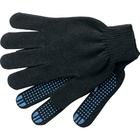 Перчатки трикотажные, с ПВХ Точка черные 43г, 10кл, 10пар/уп