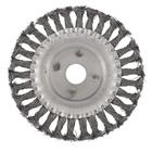 Щетка для УШМ 150 мм, посадка 22,2 мм, плоская, крученая металлическая проволока// СИБРТЕХ