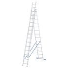 Лестница, 3 х 14 ступеней, алюминиевая, трехсекционная // СИБРТЕХ // Pоссия