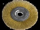 """Щетка STAYER """"PROFESSIONAL"""" дисковая  для УШМ, витая стал.латунированная проволока 0,3мм, 175мм/22мм"""