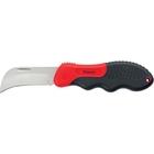 Нож электрика, складной, изогнутое лезвие, эргономичная двухкомпонентная рукоятка//MATRIX