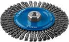 """Щетка дисковая для УШМ, 150мм х М14 плетеные пучки сталь. пров. 0,5мм, ЗУБР """"ПРОФЕССИОНАЛ"""""""
