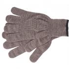 Перчатки трикотажные, акрил, цвет: коричневый, оверлок Сибртех Россия