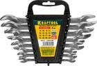 """Набор KRAFTOOL """"EXPERT"""": Ключ гаечный рожковый, Cr-V сталь, хромированный, 8-24мм, 8шт"""