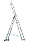 Лестница, 3 х 11 ступеней, алюминиевая, трехсекционная // Pоссия