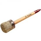 """Кисть круглая ЗУБР """"УНИВЕРСАЛ - МАСТЕР"""", светлая щетина, деревянная ручка, №4, 25мм"""
