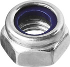 Гайка со стопорным нейлоновым кольцом М6 DIN 985 оцинкованная класс прочности 6, 16 шт, ЗУБР