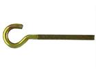Полукольцо с метрической резьбой М6 х 100 (100 шт) оцинк.