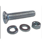 Винт (DIN965) в комплекте с гайкой (DIN934), шайбой (DIN125), шайбой пруж. (DIN127), M6 x 40 мм,8 шт