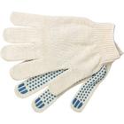 Перчатки трикотажные, с ПВХ Точка 49г, 10кл, 10пар/уп