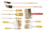 """Набор кистей, 10 предметов: флейцевые 3/4"""", 1,5"""", 2"""", 3"""", круглые 20, 30, 40 мм, радиаторные 1"""", 1,5"""
