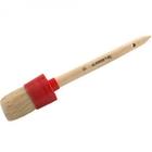 "Кисть круглая STAYER ""MASTER"", светлая натурал. щетина, пластм. корпус, деревян. ручка, №8 x 35мм"