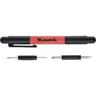 Ручка-отвертка с комбинированными битами для точных работ.PH0, PH000; SL 1.5, SL 3 CrV//Matrix