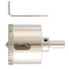 Сверло алмазное по керамограниту, 50 х 67 мм, 3-гранный хвостовик MATRIX