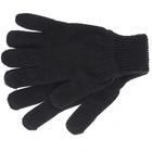 Перчатки трикотажные, акрил, цвет: чёрный, двойная манжета Сибртех Россия