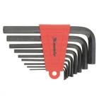 Набор ключей имбусовых HEX, 1,5–10 мм, CrV, 9 шт., оксидированные, удлиненные// MATRIX