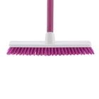 "Щетка пластм. ""SHROBER"" для чистки ковров 270 мм, роз. щетина, c черенком, 120 см, D22мм// ELFE"