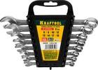 """Набор ключей гаечных комбинированные 8-19мм, 8шт, Cr-V сталь, хромированные, KRAFTOOL """"EXPERT"""""""