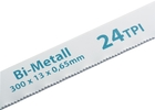 Полотно для ножовки по металлу 300 мм, 24TPI, BIM, 2 шт // GROSS