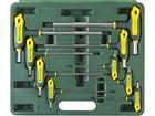 """Набор KRAFTOOL Ключи """"INDUSTRIE"""" имбусовые,Cr-Mo(S2),Т-образные, эргоном двухкомп рукоятка,HEX,с шар"""