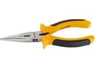 Длинногубцы, Comfort, 160 мм, прямые шлифованные, двухкомпонентные рукоятки// SPARTA