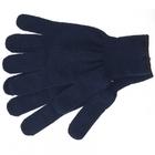 Перчатки трикотажные, акрил, цвет: синий, оверлок Сибртех Россия