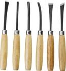 Набор резцов фигурных, с деревянной ручкой, 6шт STAYER