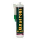 Герметик силиконовый KRAFTOOL белый, санитарный, для помещений с повышенной влажностью, 300мл (12шт)