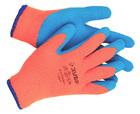 Перчатки ЗУБР утепленные, акриловые, сигнальный цвет, S-M.