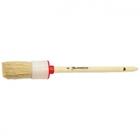 Кисть круглая №10 (40 мм), натуральная щетина, деревянная ручка // MATRIX