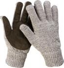 Перчатки утепленные Полюс, с флисовой подкладкой и спилковым наладонником, акрил+полушерсть, S-M, ЗУ