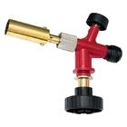 Профессиональная горелка на газовый баллон, пьезоподжиг, металл. корпус // MATRIX