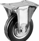 Колесо неповоротное d=200 мм, г/п 185 кг, резина/металл, игольчатый подшипник, ЗУБР