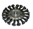 Щетка-крацовка со шпилькой для дрели, круглая, крученная проволока, диаметр 100 мм (Hobbi) (шт.)