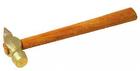 Молоток слесарный, деревянная рукоятка, круглый боек, 400 г (шт.)