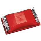 Брусок шлифовальный 210 х 105 мм пластиковый с зажимом // MATRIX