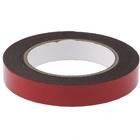 Лента клейкая на вспененной основе усиленная, двусторонняя, черная, 19 мм х 5 м// MATRIX