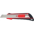 Нож, 18 мм выдвижное лезвие,  метал. направляющая,  эргоном. двухкомпонентная рукоятка//MATRIX