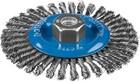 """Щетка дисковая для УШМ, 125мм х М14 плетеные пучки сталь. пров. 0,5мм, ЗУБР """"ПРОФЕССИОНАЛ"""""""