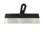 Шпатель Lux нержавеющая сталь зубчатый 200 мм (10 х 10) ПИ
