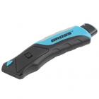 Нож рем-монтажный, трехкомп. рук-ка, кнопочный автовыброс/возврат лезвия, 175 мм +5 з.л. // GROSS