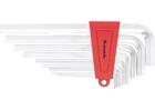 Набор ключей имбусовых HEX, 1,5–10 мм, CrV,  9 шт.,  экстра-длин,  сатин.// MATRIX