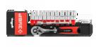 """Набор ЗУБР """"МАСТЕР"""": Торцовые головки (1/4"""") на пластиковом рельсе, трещотка, удлинитель, Cr-V, 4-13"""