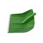Лопата снеговая зеленая, 400 х 420 мм, без черенка, пласт., алюм. окантовка// СИБРТЕХ Россия