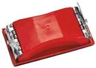 Брусок шлифовальный 160 х 85 мм пластиковый с зажимом // MATRIX