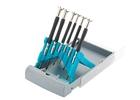 Набор отверток для точной механики,  CrMo, двухкомпонентные рукоятки, 6шт., пласт. бокс// GROSS