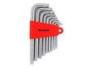 Набор ключей имбусовых TORX, 9 шт: T10-T50,  CrV, короткие, сатин.// MATRIX