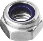 Гайка со стопорным нейлоновым кольцом М4 DIN 985 оцинкованная класс прочности 6, 20 шт, ЗУБР